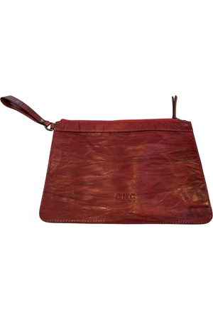 Costume National Leather clutch bag