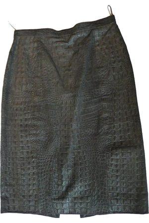 Céline Leather mid-length skirt