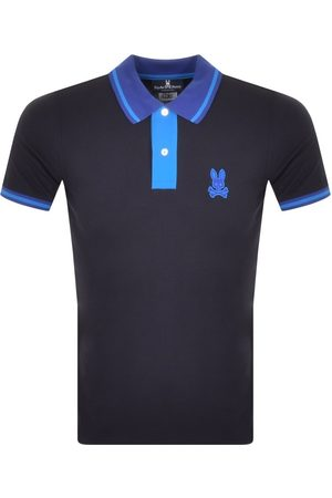 Bunny Men Polo Shirts - Morland Contrast Polo T Shirt Navy
