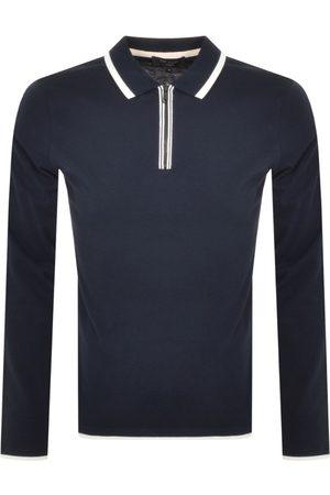 Ted Baker Men Long Sleeve - Yeeha Long Sleeved Polo T Shirt Navy