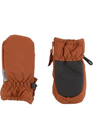 WHEAT Cinnamon Zipper Tech Mittens - 6-12 Months - - Ski gloves and mittens