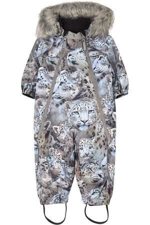 Molo Kids Ski Suits - Snowy Leopards Pyxis Faux Fur Snowsuit - 86 cm (1-1,5 Years) - - Winter coveralls
