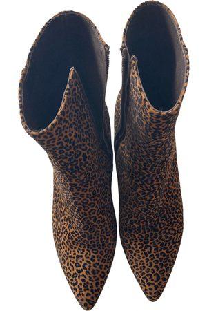 Caroline Biss Velvet ankle boots