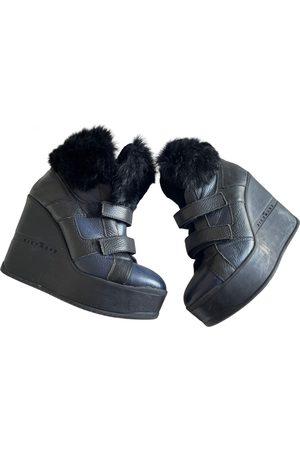John Richmond Leather snow boots