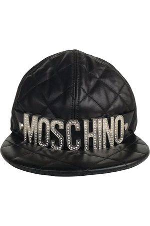 Moschino Leather cap
