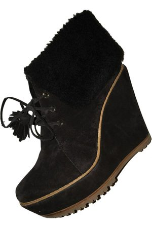 MULBERRY Leather lace up boots