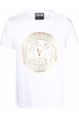 VERSACE T-shirts and polos white