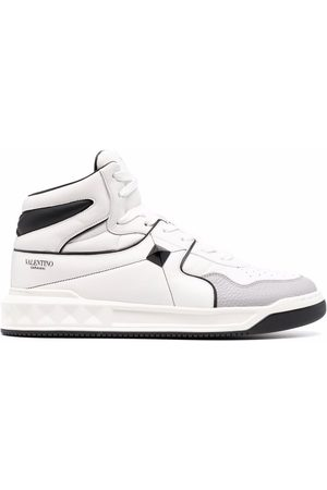 VALENTINO GARAVANI Leather one stud high-top sneakers