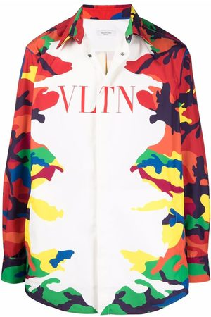 VALENTINO Vltn camouflage-print shirt