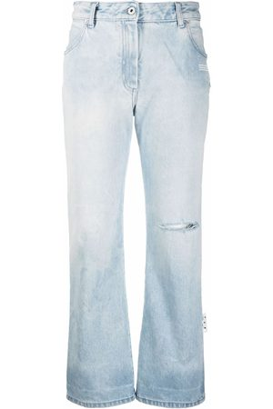OFF-WHITE Women Skinny - Flared cropped jeans