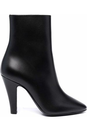 Saint Laurent Women Ankle Boots - Leather heel ankle boots