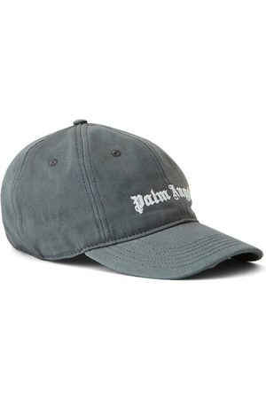 Palm Angels Men Caps - Classic Logo Baseball Cap Grey