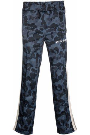 Palm Angels Men Sweatpants - Night Camo Track Pant Blue And Black