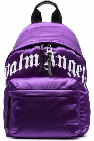Palm Angels Men Wallets - Logo-Print Backpack