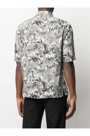 Saint Laurent Leaf-Print Short-Sleeve Shirt