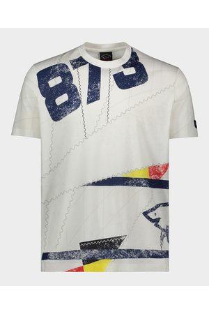 Paul & Shark Men Short Sleeve - Organic Cotton T-Shirt With Sailing Print