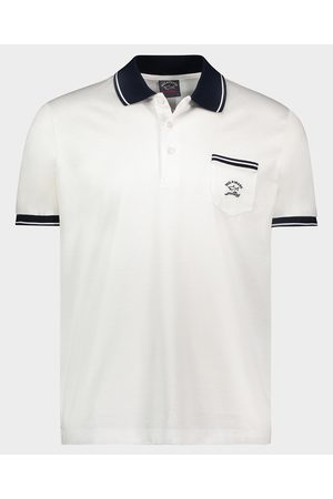 Paul & Shark Men Polo Shirts - Organic Cotton Jersey Polo With Embroidered Logo