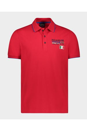 Paul & Shark Men Polo Shirts - Organic Cotton Piqué Polo With Nautical Badges