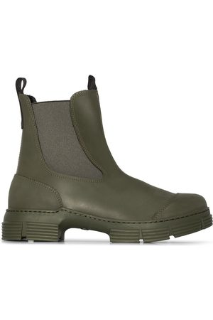 GANNI Chunky sole Chelsea ankle boots
