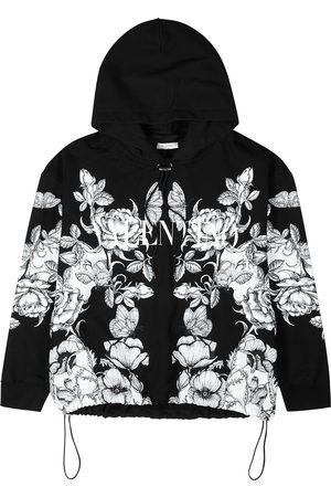 VALENTINO Men Sweatshirts - Monochrome printed cotton sweatshirt