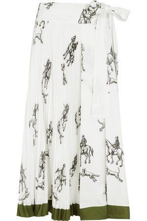 3.1 Phillip Lim Women Printed Skirts - Printed satin-twill midi skirt