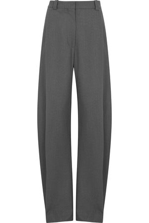 EFTYCHIA Women Stretch - Grampa grey stretch-wool trousers