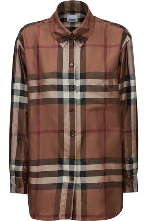 Burberry Carlota Silk Twill Printed Shirt