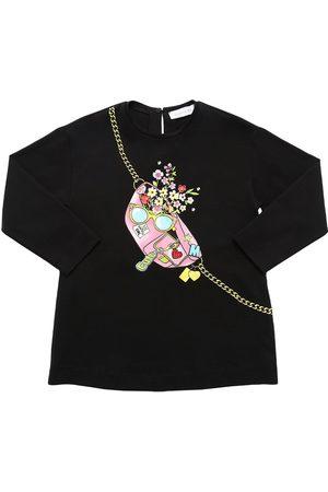 MONNALISA Girls T-shirts - Printed Cotton Jersey T-shirt