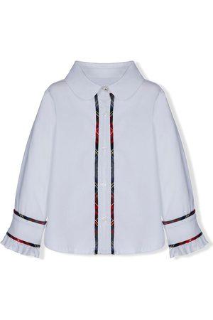 Lapin House Shirts - Contrast-trim ruffled-cuffs shirt