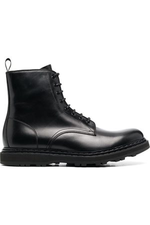 Officine creative Lace-up calf leather military boots