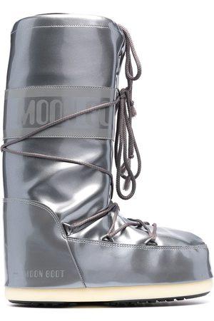 Moon Boot Men Snow Boots - Icon metallic snow boots - Grey