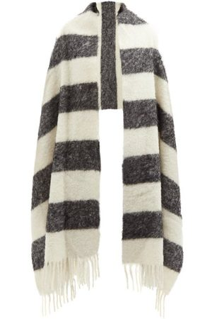 Marni Women Scarves - Striped Arm-hole Knitted Scarf - Womens
