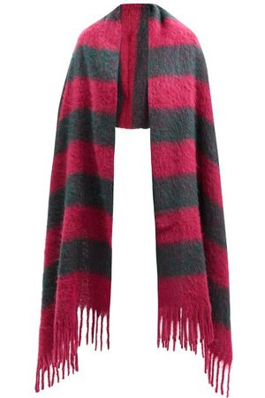 Marni Women Scarves - Striped Arm-hole Knitted Scarf - Womens - Multi