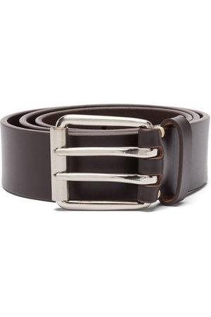 Raey Wide Bridle-leather Belt - Mens - Dark