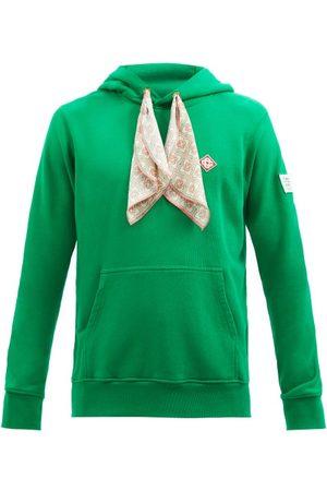 Casablanca Scarf-embellished Organic-cotton Hooded Sweatshirt - Mens