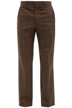 WOOYOUNGMI Checked Wool-blend Suit Trousers - Mens - Multi