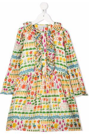 Stella McCartney Girls Casual Dresses - Allotment ruffled dress - Neutrals