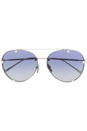 VALENTINO Crystal-embellished aviator-frame sunglasses
