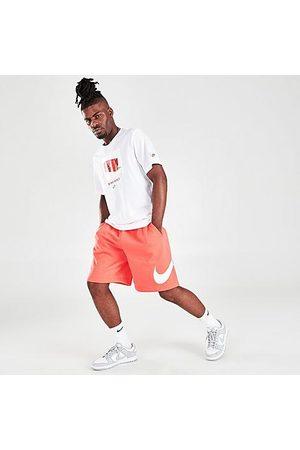 Nike Men Sports Shorts - Men's Sportswear Club Graphic Shorts Size Small Cotton/Polyester/Fleece