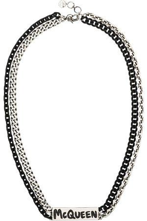 Alexander McQueen Graffiti logo chain necklace