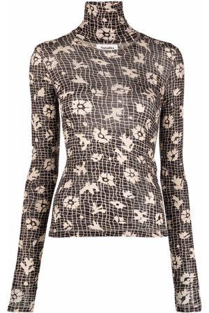 Nanushka Women High Necks - Hanny high-neck floral print top