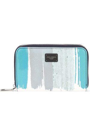 Dolce & Gabbana Small striped zip-around wallet