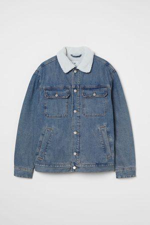 H&M Men Denim Jackets - Lined Denim Jacket