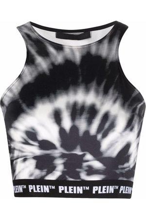 Philipp Plein Tie dye-print cropped top