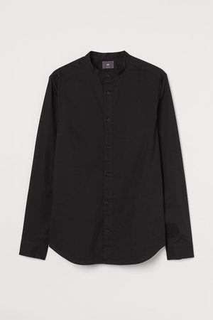 H&M Men Shirts - Muscle Fit Band-collar Shirt