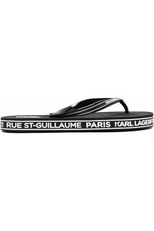 Karl Lagerfeld Logo-print flip flops