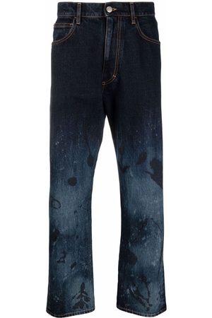 Marni Men Wide Leg - Acid wash wide-leg jeans