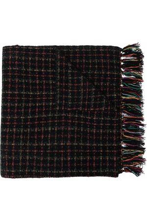Saint Laurent Tweed fringed scarf