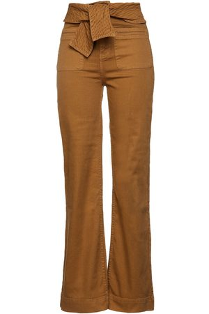 ULLA JOHNSON Women High Waisted - Woman Wade Belted High-rise Flared Jeans Light Size 0