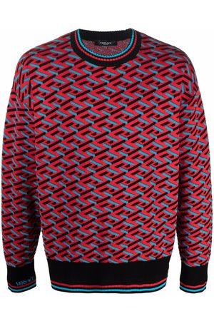 VERSACE Men Sweatshirts - La Greca geometric pattern jumper